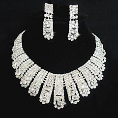 Jewelry Set Women's Wedding / Party Jewelry Sets Alloy / Rhinestone Rhinestone Necklaces / Earrings Silver