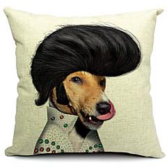 Cartoon-Hund hübsch Baumwolle / Leinen Dekorative Kissenbezug