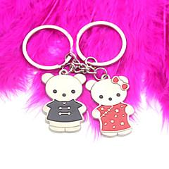 portachiavi personalizzato - tang soddisfare orso (set di 6 coppie)