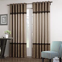 Twee panelen Window Behandeling Neoklassiek , Effen Woonkamer Polyester Materiaal Curtains Drapes Huisdecoratie For Venster