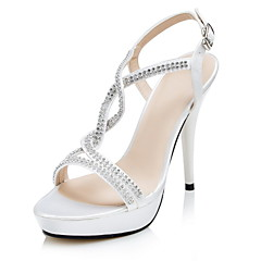 Women's Shoes Stiletto Heel Sandals with Crystal Cross Strap Party/Evening/Wedding Shoes