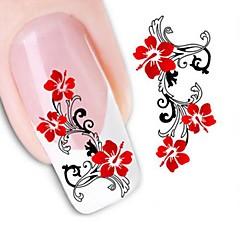 1 Neglekunst klistremerke Vannoverføringsklistre Blomst Bryllup Sminke Kosmetikk Neglekunst Design