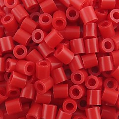 ca 500pcs / taske 5mm rød Perler perler sikringsholdere perler Hama perler diy puslespil EVA materiale olietankeren for børn