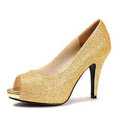 Women's Wedding Shoes Heels/Peep Toe/Platform Heels Wedding Blue/Purple/Red/Silver/Gold