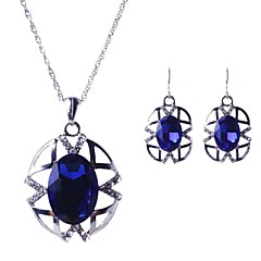 Jewelry Set Women's Party Jewelry Sets Alloy Crystal / Rhinestone Earrings / Necklaces Silver