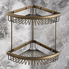 Badkamerplank Antiek koper Muurbevestiging 30 x 21 x 33cm Messing Antiek
