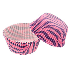 Zebra-stripe Cupcake Wrapper-Set of 50
