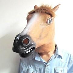 populære hestehoved latex maske til halloween (assorterede farver)