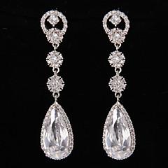 Silver Platinum Plating Drops Earrings