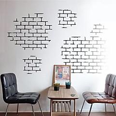 Wandaufkleber Wandtattoos, moderne Ziegel Ziegeltextureigenschaften PVC-Wandaufkleber