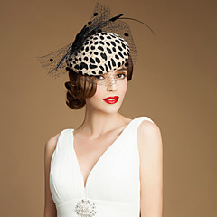Mulheres Menina das Flores Tule Lã Capacete-Casamento Ocasião Especial Casual Ao ar Livre Fascinador Chapéus