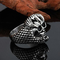 טבעת לטרוף פלדת טיטניום באיכות גבוהה אישיות יוניסקס