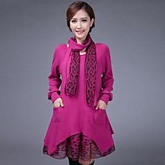 yuwinne női megvastagodása kontrasztú színek lepoard ruha
