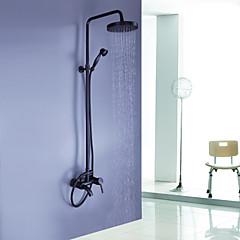 """Antik Zuhany rendszer Zuhany """"eső""""szórófej / Kézi zuhanyzót tartalmaz with  Kerámiaszelep Egy fogantyú három lyuk for  Olajjal kezelt"""