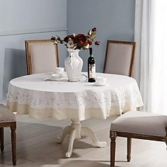 kerek asztalterítő pamut asztalterítő abrosz klasszikus kézzel (dia175cm)