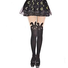 Socks/Stockings Sweet Lolita Lolita Princess Black Lolita Accessories Stockings Animal Print For Women Velvet