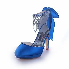 Damen - Hochzeitsschuhe - Rundeschuh / Absätze / Plateau - High Heels - Hochzeit -Schwarz / Lila / Elfenbein / Silber / Champagner / Blau