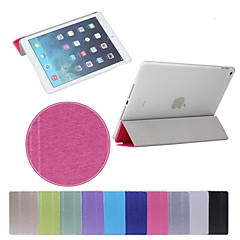 Simple Triple Fold Silk Print PU Leather Plus PC Stand Case for iPad Air 2 (Assorted Color)