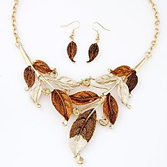 Jewelry Set Women's Daily Jewelry Sets Alloy Necklaces / Earrings Gold