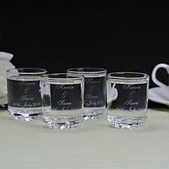 הורים מתנות חתיכה / סט ציוד לשתייה זוהר / קלסי חתונה / יום שנה זכוכית מותאם אישית ציוד לשתייה קופסאת מתנה