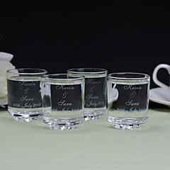Ouders Gifts-6 Stuk / Set Glazen en bekers Glam / Klassiek Bruiloft / Gedenkdag Glas Gepersonaliseerd Glazen en bekers Cadeauverpakking