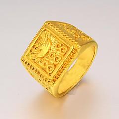 טבעות חתונה / Party / יומי / קזו'אל / ספורט תכשיטים ציפוי זהב גברים טבעות הצהרה9 מוזהב