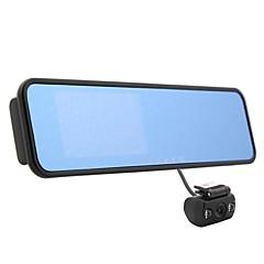 auto zrcadlo dvr 4,3 palce 140 stupňů dual Rooms širokoúhlý noční vidění s HDMI g-senzor detekce montion