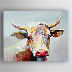 peinture à l'huile abstraite main toile moderne peint avec étiré encadrée