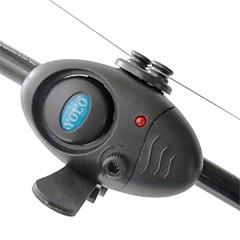 Electronic LED Light Fish Bite Sound Alarm Alert Bell Clip On Fishing Rod BlacK