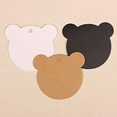 50st schattige beer kraftpapier hang tags labels voor bladwijzer geschenk bakkerij verpakkende huwelijksfeest prijskaarten (meer kleuren)