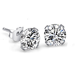 Women's Stud Earrings Crystal Imitation Diamond Simple Style Bridal Costume Jewelry Sterling Silver Crystal Rhinestone Four Prongs Jewelry