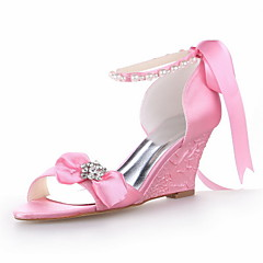 Women's Wedding Shoes Open Toe/Ankle Strap Sandals Wedding Pink
