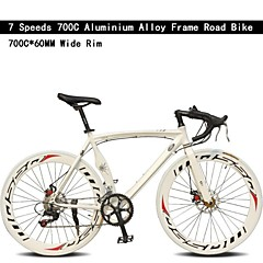 Rennräder Radsport 7 Geschwindigkeit 26 Zoll/700CC 60mm Unisex / Herren / Damen SHIMANO TX30 Doppelte Scheibenbremsen OrdinärMonocoque -