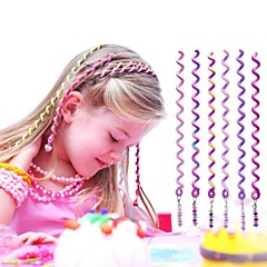 6pcs 24cm violett Kinder lockiges Haar Seil