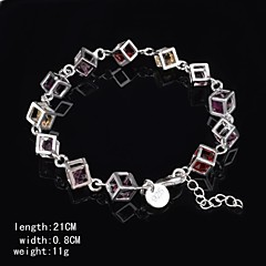 Fashion Sterling Silver Multicolor CubicZirconia Women's Bracelet