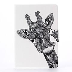 motif de girafe en cuir PU cas complète du corps avec support pour iPad mini-1/2/3