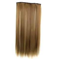 24 Zoll 120g lange synthetische gerade Clip in Haarverlängerungen mit 5 Clips Haarteil