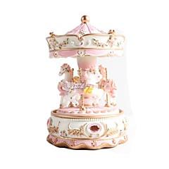 criativo dom caixa de música amor presente menina princesa caixa musical projeto resina carrossel
