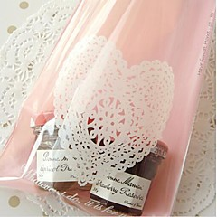 50 Piece/Set Favor Holder Plastic Favor Bags Pink Heart Lace