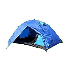 3-4 személy Sátor Dupla Két szoba kemping sátor 2000-3000 mmPárásodás gátló Jól szellőző Vízálló Szélbiztos Rovartaszító Lélegzési