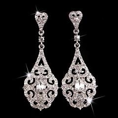 Damen Ohrring Silber/Perle/Legierung Kristall Drop Earrings