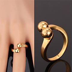 Anéis Ajustável Casamento / Pesta / Diário / Casual / Esportes Jóias Liga / Chapeado Dourado Feminino / Masculino / Casal Anéis Grossos
