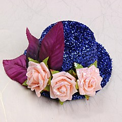 Flower Girl Polyester/Cotton Hats With Roses Wedding/Party Headpiece