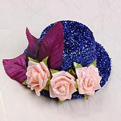 נערת פרחים פוליאסטר כותנה כיסוי ראש-חתונה כובעים