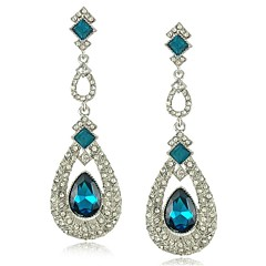 Earring Wedding New Party Jewelry Brincos New pendientes Crystal Very long earrings Brincos (More Colors)