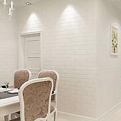 Geometrisk Baggrund Til hjem Moderne Vægbeklædning , PVC/Vinyl Materiale Lim påkrævet tapet , Room Wallcovering