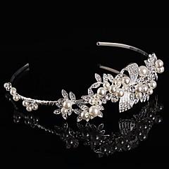 Ženy / Malé družičky Sterlingové stříbro / Slitina Přílba-Svatba / Zvláštní příležitost Čelenky / Květiny / Çelenkler Jeden díl