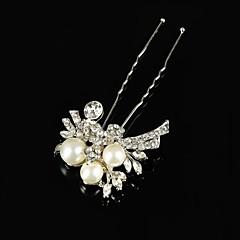 Vintage Wedding Party Bride Flower Austria Crystal Silver HeadPin Hair Accessories
