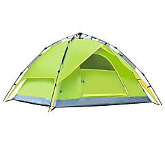 אוהל - עמיד ללחות/עמיד למים/מוגן מגשם/נגד חרקים/עמיד ברוח/מזג אוויר קר ( כחול/ירוק בהיר/כתום/ירוק צבאי , 3-4 אנשים )