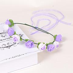 נשים נערת פרחים קצף פלסטיק כיסוי ראש-חתונה אירוע מיוחד קז'ואל משרד וקריירה חוץ זרי פרחים חלק 1